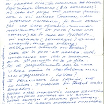Letter from Myriam Acevedo to Francisco Morín