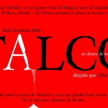 "Postcard for the production, ""Talco, un drama de tocador"""