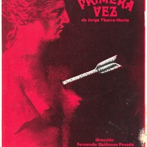 "Poster for the production, ""La primera vez"""