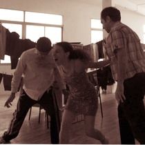 "Photographs of a rehearsal, ""Fango"" (Madrid)"