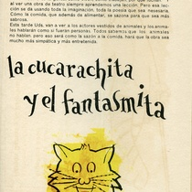 "Program for the production, ""Díptico: La cucarachita Martina / Pompín, el fantasmita"""