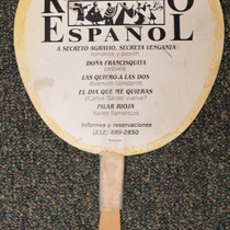 Photograph of Promotional Fan for Repertorio Español
