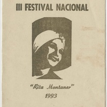 Program for the production, III Festival Nacional Rita Montaner