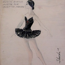 "Costume design for the ballet, ""El lago de los cisnes"""