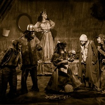 "Photographs of the production, ""La orgía"""