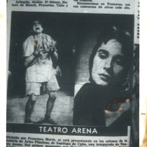 Photograph of a press clipping of a production directed by Francisco Morín (Santiago de Cuba, 1957)