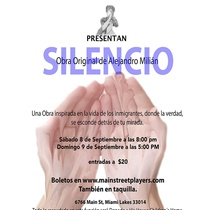 Poster for the production, Silencio