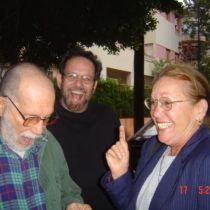 Abelardo Estorino, Alberto Sarraín, and Miriam Learra, Havana 2004