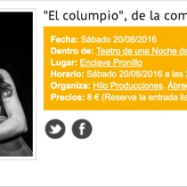 "Digital Postcard for the production ""El Columpio"" 2016"