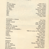 Program for the theatrical production, Casa de muñecas