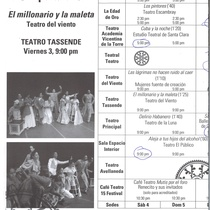 Program for the 15 Festival Nacional de Teatro de Camagüey