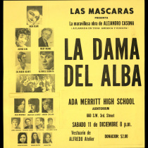 "Poster for the production, ""La dama del alba"""