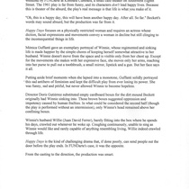 "Press release for the production, ""Los días felices"""