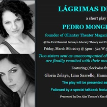 Postcard for the staged reading, Lágrimas del alma