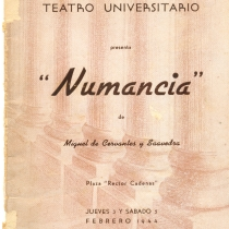 "Cover from the program for the production, ""Numancia"""
