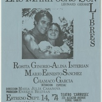 "Poster for the production, ""Las mariposas son libres"""