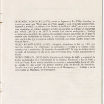"Program for the production, ""Estampas de la novelística cubana"""