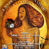 "Poster for the production, ""Las penas saben nadar"""