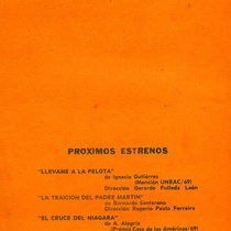 "Program for the production, ""Anfitrión"""