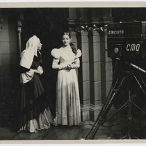 "Photograph of Nena Acevedo and Martha del Río in the TV production, ""Romeo y Julieta"""