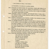 "Typescript for the production, ""Caído se le ha un clavel"""
