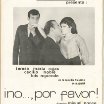 "Program for the production, ""¡No…, por favor!"" (No...please!)"