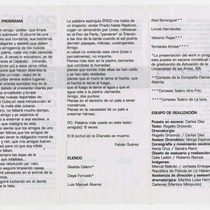 "Program for the production ""Antigonón"""