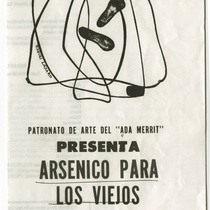"Playbill for the production, ""Arsénico para los viejos"""