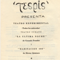 "Program for the production, ""La última noche y Habitación 406"""
