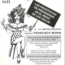 "Poster for the production, ""Las prostitutas os precederán en el reino de los cielos"""