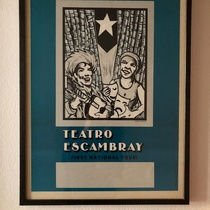 Poster for the Tour of Grupo Teatro Escambray to the United States and Canada