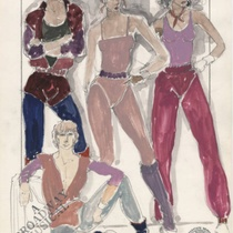 "Costume design for Rehearsal Chorus 27-28-29 for the production, ""A Broadway Musical"""
