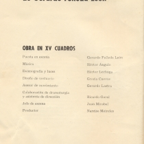 "Program for the production, ""Los profanadores"""