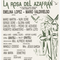 "Playbill for the production, ""La rosa del azafrán"""