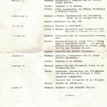 Program for the first North American Brigade of Cultural Workers to Cuba