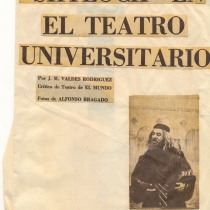 "Press Release about Rafael Ugarte playing the role of Shylockin the production, ""El Mercader de Venecia"""