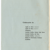 "Program for the production, ""Añorada Cuba: Quinto Festival Folklórico"""