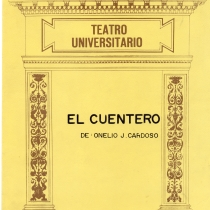 "Cover from the program for the production, ""El cuentero"""