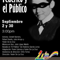 Poster for the production, Federico y el público