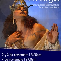 Poster for the production, La orgía