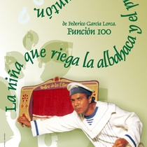 "Poster for the production, ""La niña que riega la albahaca y el príncipe preguntón"""