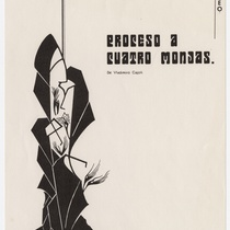 "Playbill for the production, ""Proceso a cuatro monjas"""