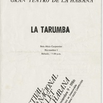 "Program for the production, ""La Tarumba"""