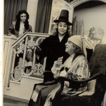 "Scene from the production, ""El enfermo imaginario"""