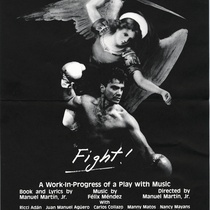 "Poster for play, ""Fight!"""