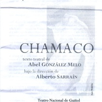 Program for the staged reading, Chamaco