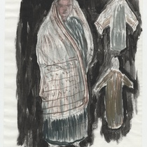 "Costume sketch for the character ""Rosa"" for the production, ""Los fantasmas de Tulemón"""