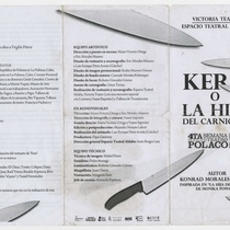 "Program for the production ""Kera o La hija del carnicero"""