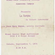 "Invitation for the production, ""La sopera"""