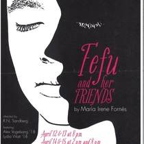Poster for the theatrical production, Fefu and her friends (Princeton, 2018)